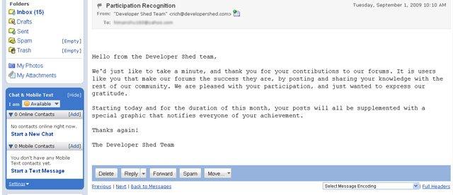 recongition mail