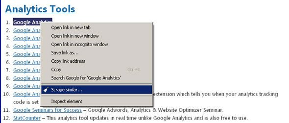 Data Scraping guide for SEO & Analytics